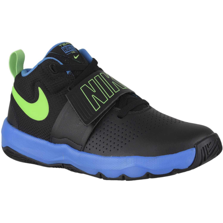 Zapatilla de Jovencito Nike Negro  Celeste team hustle d 8 bg