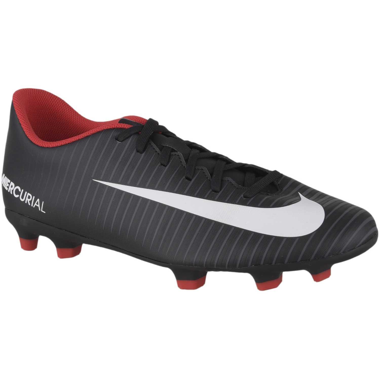 Zapatilla de Hombre Nike Negro   Rojo mercurial vortex iii fg ... bb320a98654