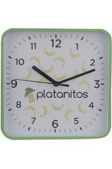 Reloj de Pared de Varios Platanitos Verde JHPLAT