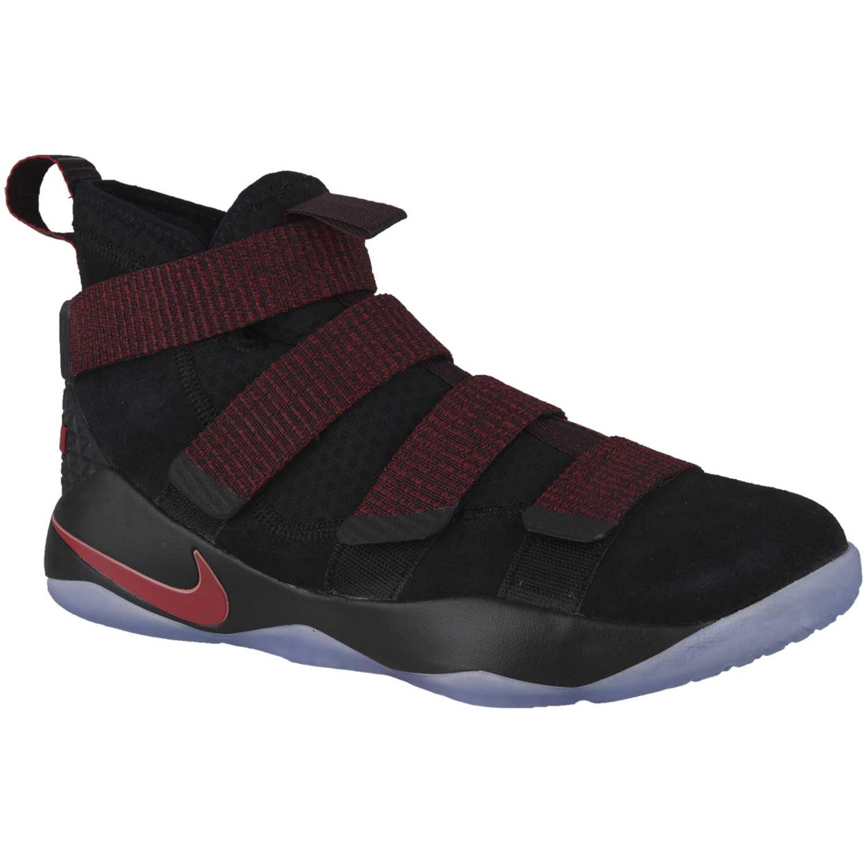 Zapatilla de Hombre Nike Negro / Rojo lebron soldier xi