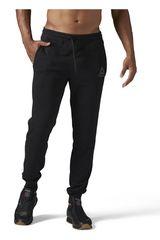 Reebok Negro de Hombre modelo US STACKED LOGO JOGGER Pantalones Deportivo