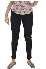 CUSTER Negro de Mujer modelo KNEE W Casual Pantalones Jeans