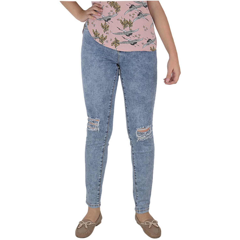 Jean de Mujer CUSTER Azul knee w