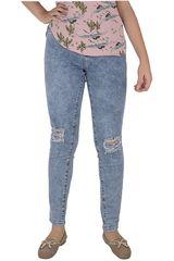 CUSTER Azul de Mujer modelo KNEE W Casual Pantalones Jeans