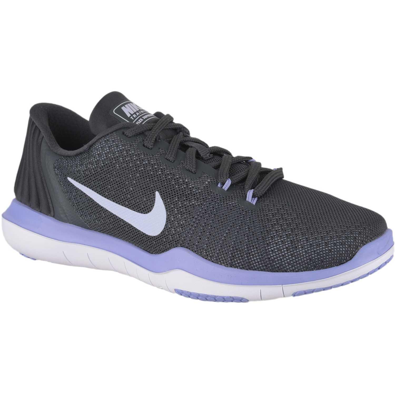 4934dd0522338 Zapatilla de Mujer Nike Gris   lila wmns nike flex supreme tr 5 ...