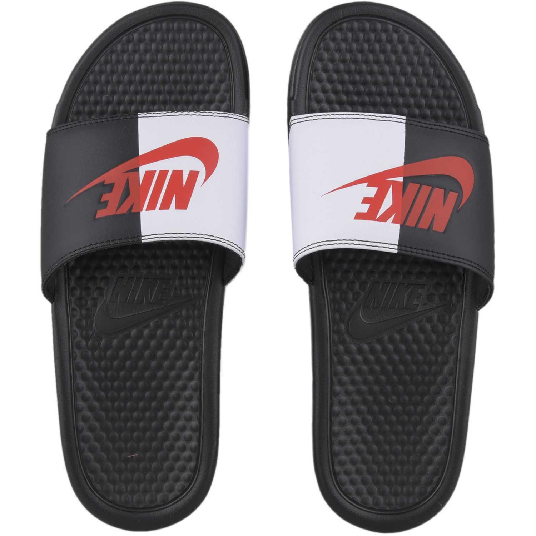 24a9c50c43445 Sandalia de Hombre Nike Negro   Blanco benassi jdi