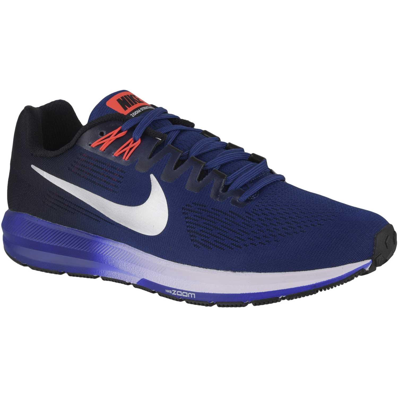 177459f6950e9 Zapatilla de Hombre Nike Azul   negro nk air zoom structure 21 ...