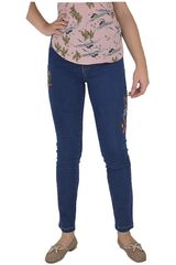 CUSTER Azul oscuro de Mujer modelo BRODERIEW Jeans Casual Pantalones