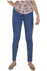 CUSTER Azul de Mujer modelo BRODERIE W Jeans Casual Pantalones