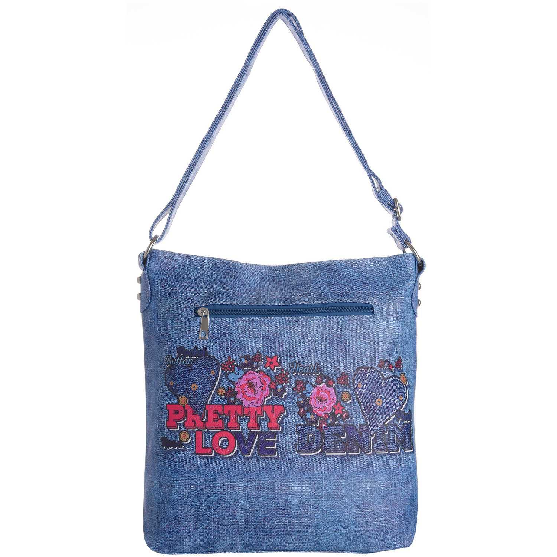 Cartera Casual de Mujer Platanitos Azul ds145-4
