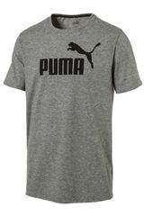 Puma Gris / Negro de Hombre modelo ESS No.1 Heather Tee Deportivo Polos