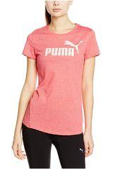 Puma Rosado / Blanco de Mujer modelo ESS No.1 Tee Heather W Polos Deportivo