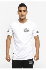 Polo de Hombre PumaDynamic Brand Tee Blanco / Negro