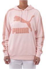 Puma Nude de Mujer modelo Classics Logo T7 Hoody Deportivo Poleras