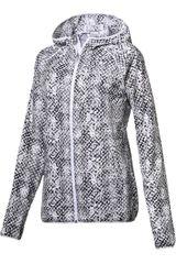 Puma Gris / Blanco de Mujer modelo LastLap Graphic Jacket W Deportivo Casacas