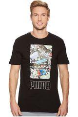 Puma Negro de Hombre modelo Photoprint Shoes Tee Deportivo Polos