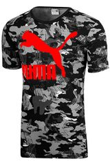 Puma Negro / Rojo de Hombre modelo Archive Logo Tee AOP Deportivo Polos