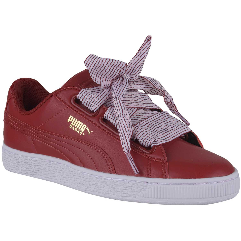 b08ac5d4a Zapatilla de Mujer Puma Rojo   rosado basket heart wn s