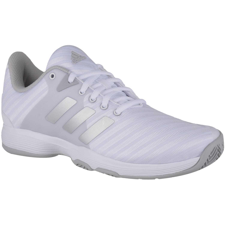 c6195ac3a1f Zapatilla de Mujer Adidas Gris   plomo barricade court w ...