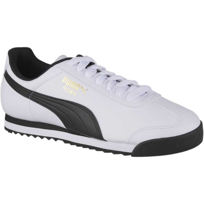Zapatilla de Hombre Puma Blanco / negro roma basic