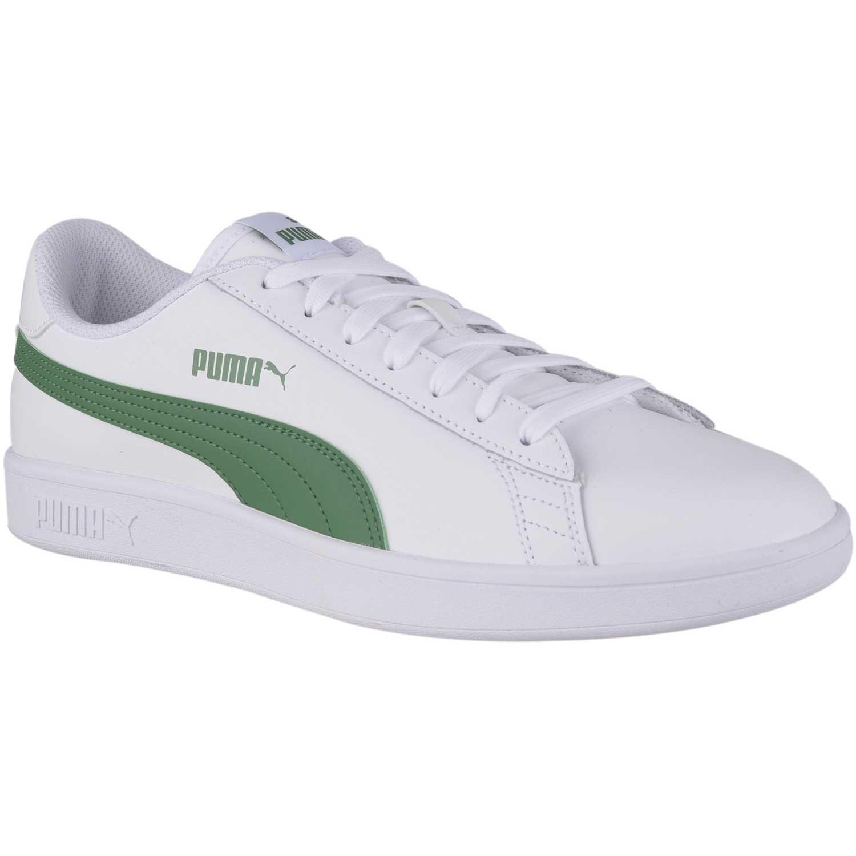 cbd5154621735 Zapatilla de Hombre Puma Blanco   verde puma smash v2 l