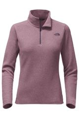 Polera de Mujer The North Face W GLACIER 1/4 ZIP Morado