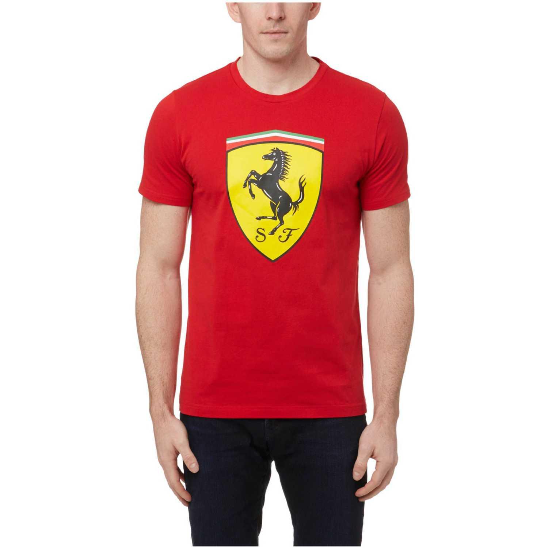 28c5da840 Polo de Hombre Puma Rojo / amarillo sf big shield tee | platanitos.com