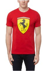 Polo de Hombre Puma Rojo / Amarillo SF Big Shield Tee