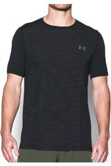 Under Armour NEG de Hombre modelo UA THREADBORNE KNIT SS Deportivo Polos