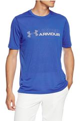 Under Armour AZL/BL de Hombre modelo Wordmark Threadborne SS Deportivo Polos
