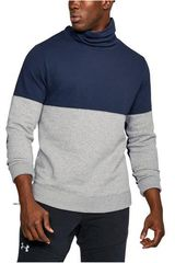 Under Armour Plomo / azul de Hombre modelo Channel Quilted 1/2 Zip Mock Poleras Deportivo
