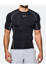 Under Armour Negro de Hombre modelo armour hg ss t-blk//stl Polos Deportivo