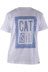 CAT Blanco de Hombre modelo AAI TEE Casual Polos