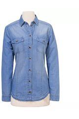 CAT Azul de Mujer modelo SOFIA L/S DENIM SHIRT Blusa Casual