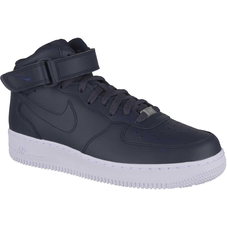 Zapatilla de / Hombre Nike Azul / de Blanco air force 1 mid 783006