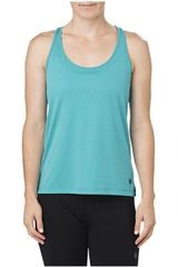 Bividi de Mujer Asics LOOSE TANK  LAKE BLUE HEATHER Turquesa