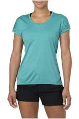 Asics TURQ de Mujer modelo CAPSLEEVE TOP  LAKE BLUE HEATHER Deportivo Polos