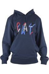 CAT Azul de Hombre modelo YORKVILLE HOODIE Casual Poleras