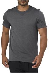 Polo de Hombre Asics Plomo SEAMLESS SS  DARK GREY HEATHER
