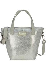 Xtrem Plateado de Mujer modelo lunch bag silver tote 847 Loncheras