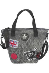 Lonchera de Mujer Xtrem lunch bag grey patches tote 847 Gris