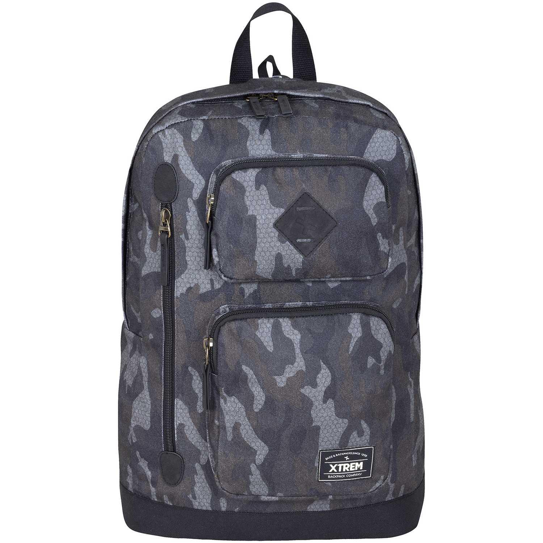 Mochila de Hombre Xtrem Gris backpack hex camo wave 704