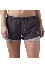 Reebok Plomo de Mujer modelo RE 2-IN-1 SHORT Deportivo Shorts