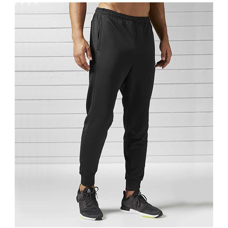 Re Jog Hombre Negro Pant De Pantalón Reebok 7ITwX