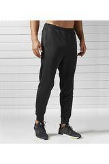 Reebok Negro de Hombre modelo RE JOG PANT Pantalones Deportivo