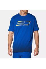 Under Armour Azul de Hombre modelo SC30 Faded Logo Tee Deportivo Polos