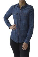CAT Azul de Mujer modelo SOFIA L/S DENIM SHIRT Casual Blusa