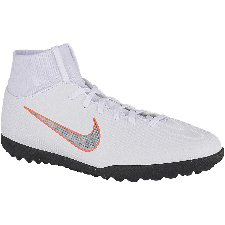 7bad52a2ae8b0 Zapatilla de Hombre Nike Blanco   naranja superflyx 6 club tf ...