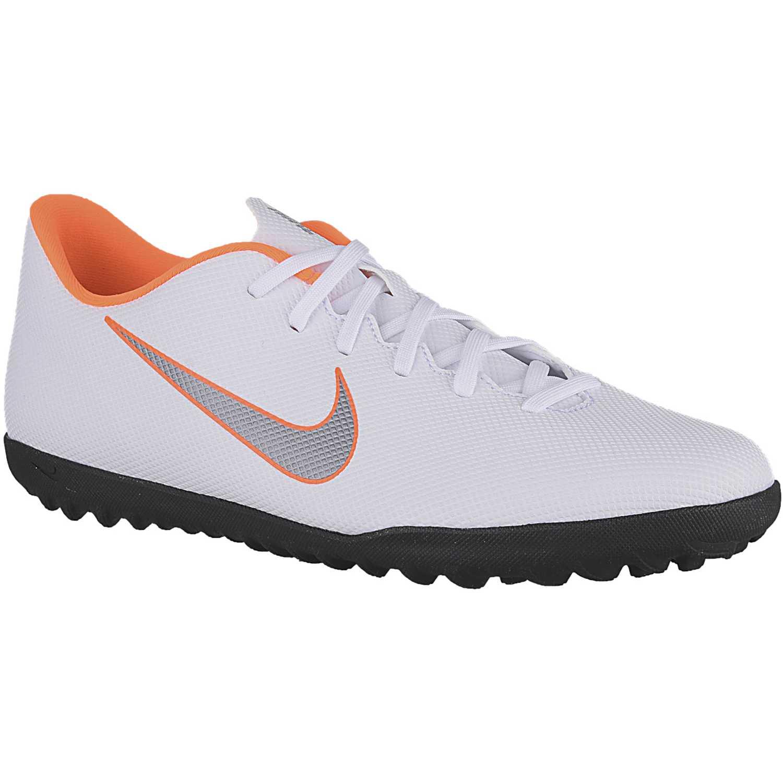 Zapatilla de Hombre Nike Blanco   naranja vaporx 12 club tf ... 95cc06e91c9e5