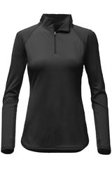 The North Face Negro de Mujer modelo W MOTIVATION 1/4 ZIP Casual Casacas Chompas Poleras